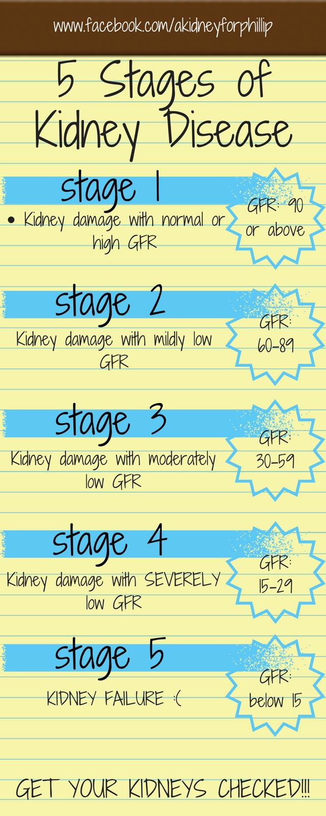 5 stages of kidney disease infographic
