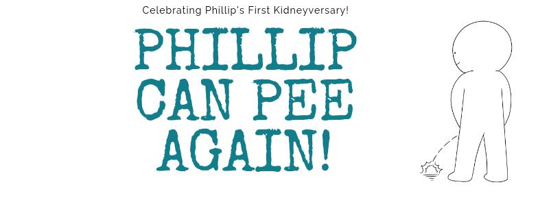 Phillip can pee again
